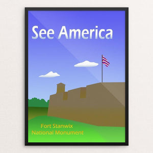 "Fort Stanwix National Monument by Ludlowfan 12"" by 16"" Print / Framed Print See America"