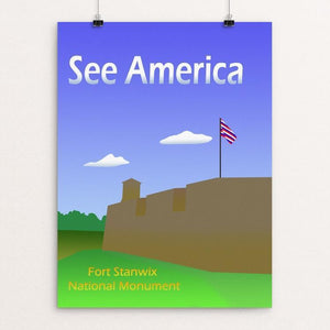 "Fort Stanwix National Monument by Ludlowfan 12"" by 16"" Print / Unframed Print See America"