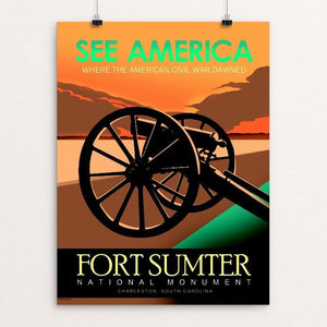 "Fort Sumter National Monument, Charleston, S.C. by Robert Proctor 12"" by 16"" Print / Unframed Print See America"