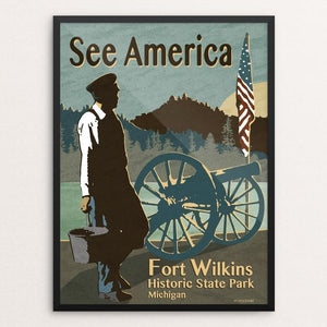 "Fort Wilkins Historic State Park by Mike Stockwell 12"" by 16"" Print / Framed Print See America"