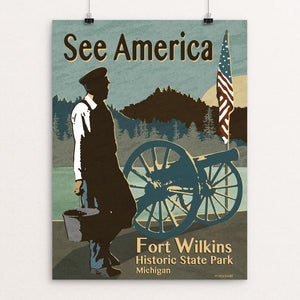"Fort Wilkins Historic State Park by Mike Stockwell 12"" by 16"" Print / Unframed Print See America"