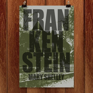 "Frankenstein 2 by Andrew Burton 12"" by 18"" Print / Unframed Print Recovering the Classics"