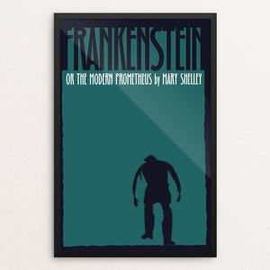 "Frankenstein 4 by Bob Rubin 12"" by 18"" Print / Framed Print Recovering the Classics"
