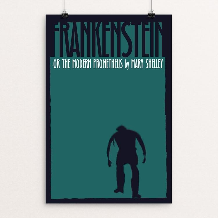 "Frankenstein 4 by Bob Rubin 12"" by 18"" Print / Unframed Print Recovering the Classics"