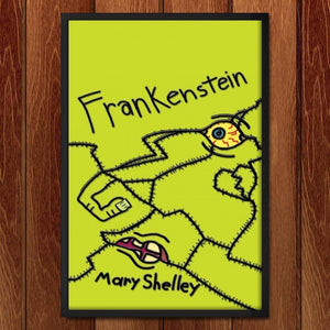 "Frankenstein by Andrew Burton 12"" by 18"" Print / Framed Print Recovering the Classics"
