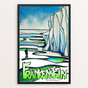 "Frankenstein by Hillary Floyd 12"" by 18"" Print / Framed Print Recovering the Classics"
