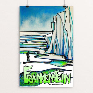 "Frankenstein by Hillary Floyd 12"" by 18"" Print / Unframed Print Recovering the Classics"