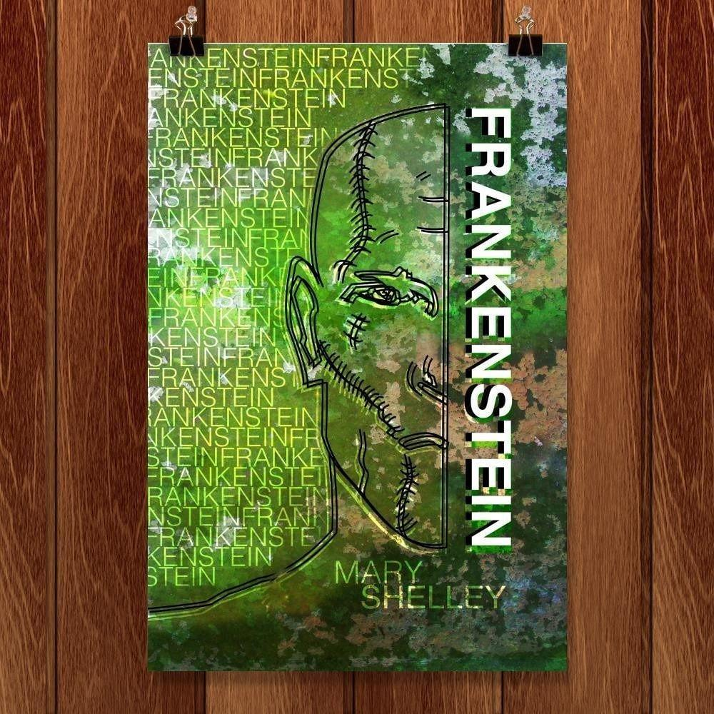 "Frankenstein by Joshua Hayden 12"" by 18"" Print / Unframed Print Recovering the Classics"