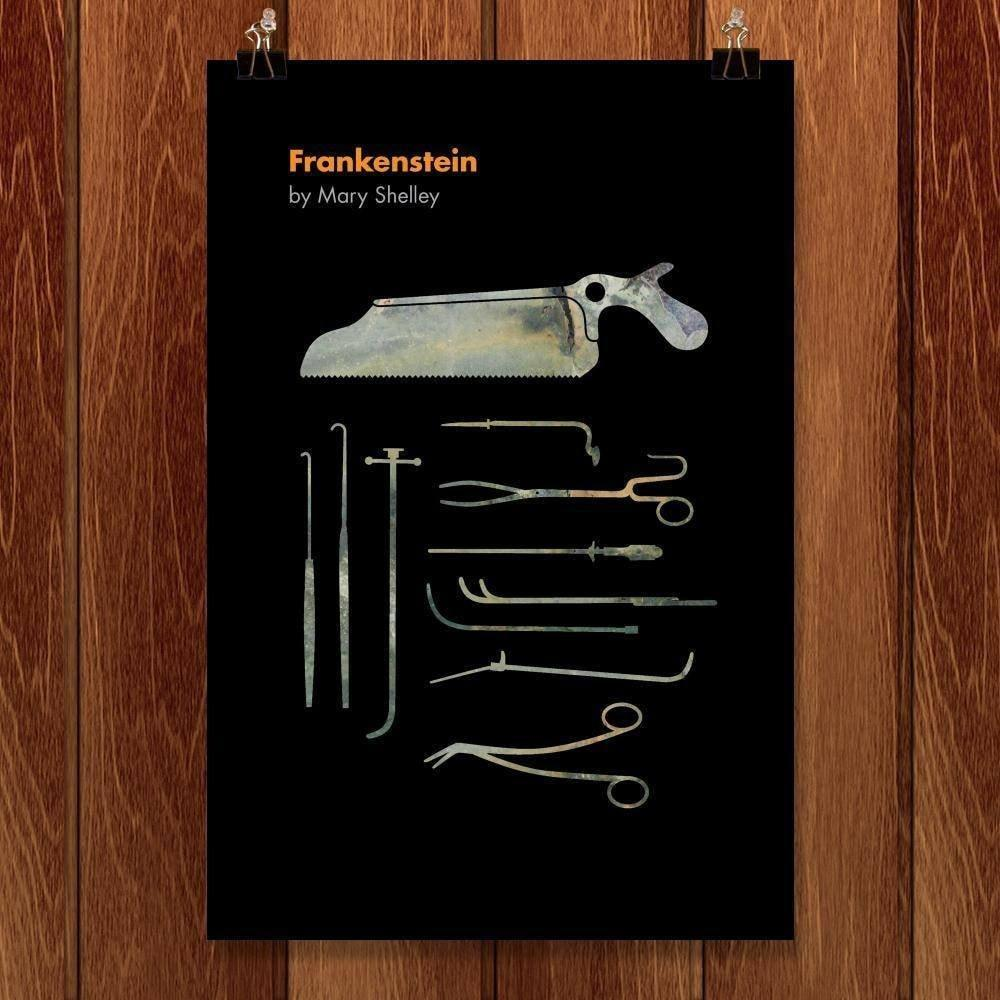 "Frankenstein by Luis Prado 12"" by 18"" Print / Unframed Print Recovering the Classics"