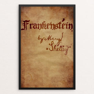 "Frankenstein by Riley Souchek 12"" by 18"" Print / Framed Print Recovering the Classics"