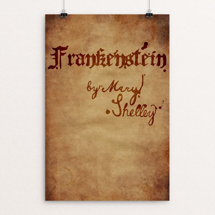 "Frankenstein by Riley Souchek 12"" by 18"" Print / Unframed Print Recovering the Classics"