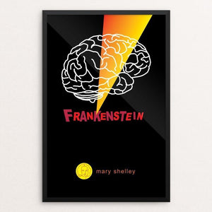 "Frankenstein by Robert Wallman 12"" by 18"" Print / Framed Print Recovering the Classics"