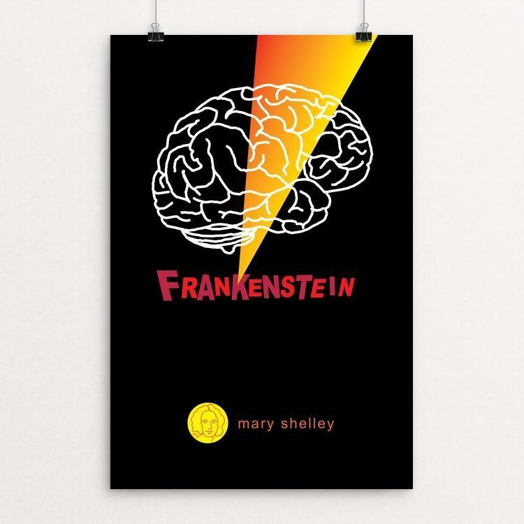 "Frankenstein by Robert Wallman 12"" by 18"" Print / Unframed Print Recovering the Classics"