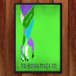 "Frankenstein by Roberto Lanznaster 12"" by 18"" Print / Framed Print Recovering the Classics"