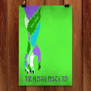 "Frankenstein by Roberto Lanznaster 12"" by 18"" Print / Unframed Print Recovering the Classics"