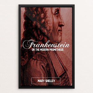 "Frankenstein (The Creator) by Bob Rubin 12"" by 18"" Print / Framed Print Recovering the Classics"
