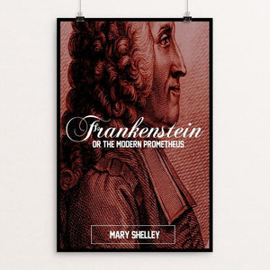 "Frankenstein (The Creator) by Bob Rubin 12"" by 18"" Print / Unframed Print Recovering the Classics"