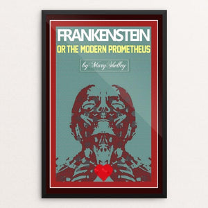 "Frankensteins Monster 3 by Bob Rubin 12"" by 18"" Print / Framed Print Recovering the Classics"