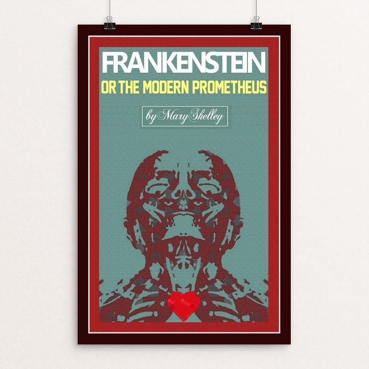 "Frankensteins Monster 3 by Bob Rubin 12"" by 18"" Print / Unframed Print Recovering the Classics"