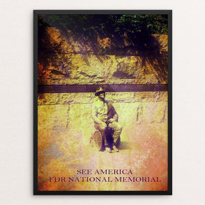 "Franklin Delano Roosevelt Memorial 2 by Bryan Bromstrup 12"" by 16"" Print / Framed Print See America"
