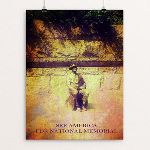 "Franklin Delano Roosevelt Memorial 2 by Bryan Bromstrup 12"" by 16"" Print / Unframed Print See America"