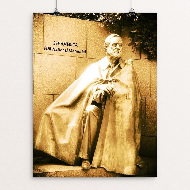 "Franklin Delano Roosevelt Memorial by Bryan Bromstrup 12"" by 16"" Print / Unframed Print See America"