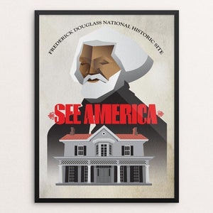 "Frederick Douglass National Historic Site by Kwesi Ferebee 12"" by 16"" Print / Framed Print See America"