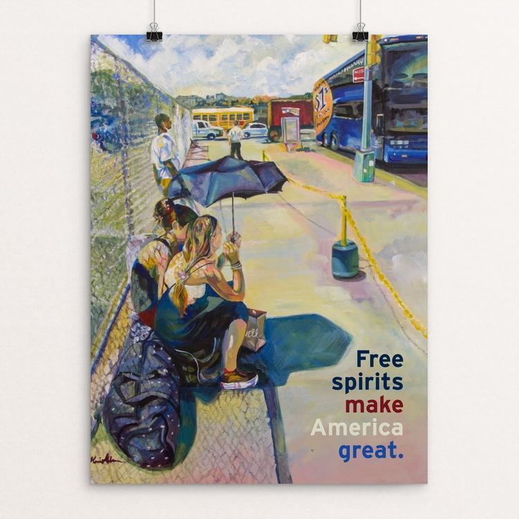 "Free Spirits Make America Great by Monica Alisse 12"" by 16"" Print / Unframed Print What Makes America Great"