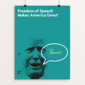 "FREEDOM OF SPEECH by BOB RUBIN 12"" by 16"" Print / Unframed Print What Makes America Great"