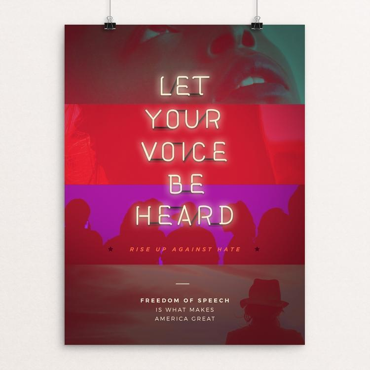 "Freedom of Speech by Jennifer Brigham 12"" by 16"" Print / Unframed Print What Makes America Great"