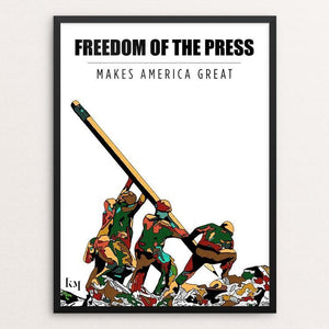 "Freedom of the press by Kevin Mcgeen 12"" by 16"" Print / Framed Print What Makes America Great"