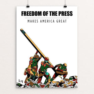 "Freedom of the press by Kevin Mcgeen 12"" by 16"" Print / Unframed Print What Makes America Great"