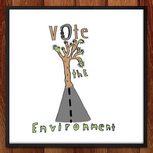 "From Urban to Environment by Will 12"" by 12"" Print / Framed Print Vote the Environment"