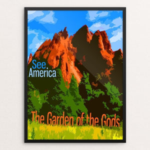 "Garden of the Gods by Eitan S. Kaplan 12"" by 16"" Print / Framed Print See America"
