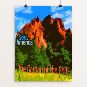 "Garden of the Gods by Eitan S. Kaplan 12"" by 16"" Print / Unframed Print See America"