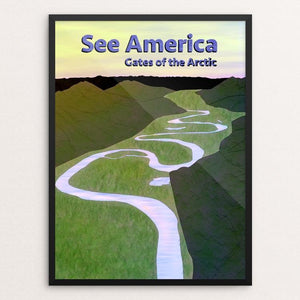 "Gates of the Arctic National Park and Preserve by Josh Hayton 12"" by 16"" Print / Framed Print See America"