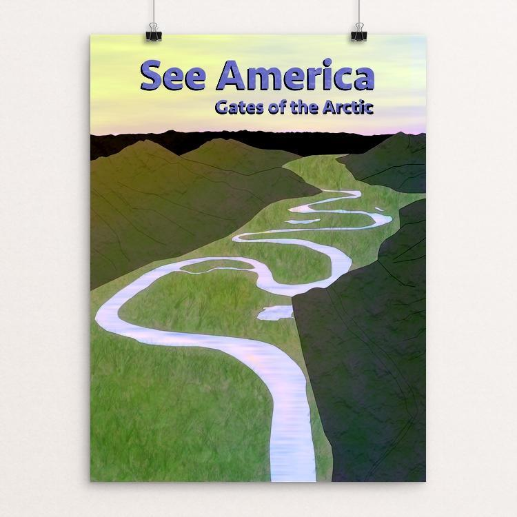 "Gates of the Arctic National Park and Preserve by Josh Hayton 12"" by 16"" Print / Unframed Print See America"