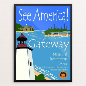 "Gateway National Recreation Area by John Lincoln Hallowell 12"" by 16"" Print / Framed Print See America"