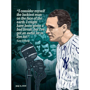 "Gehrig's Farewell, Yankee Stadium, July 4, 1939 by Don Henderson 18"" by 24"" Print / Unframed Print Transcend - Moments in Sports that Changed the Game"