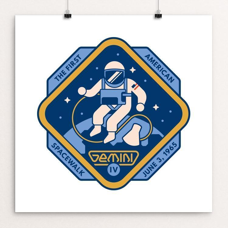 "Gemini IV by Steve Hogan 12"" by 12"" Print / Unframed Print Space Horizons"