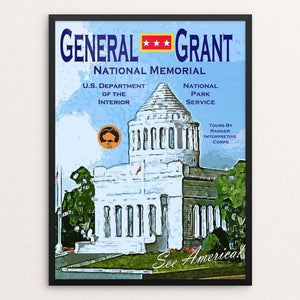 "General Grant National Memorial by John Lincoln Hallowell 12"" by 16"" Print / Framed Print See America"