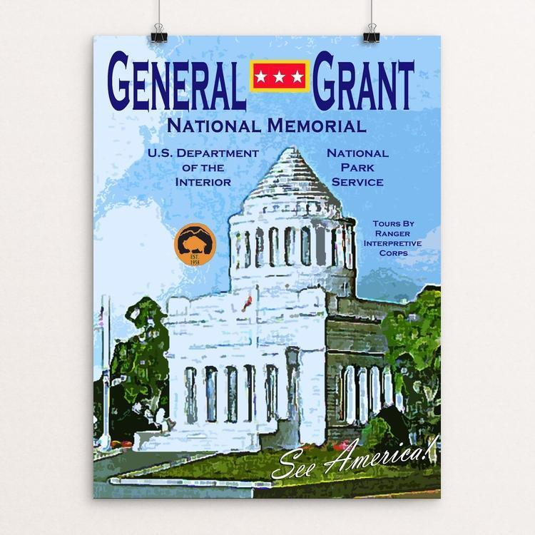 "General Grant National Memorial by John Lincoln Hallowell 12"" by 16"" Print / Unframed Print See America"