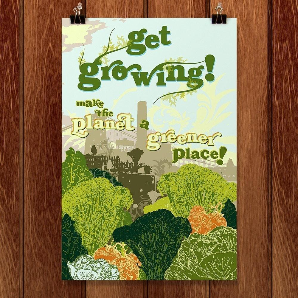 "Get Growing by Annemarie Byrd 12"" by 18"" Print / Unframed Print Green Patriot Posters"