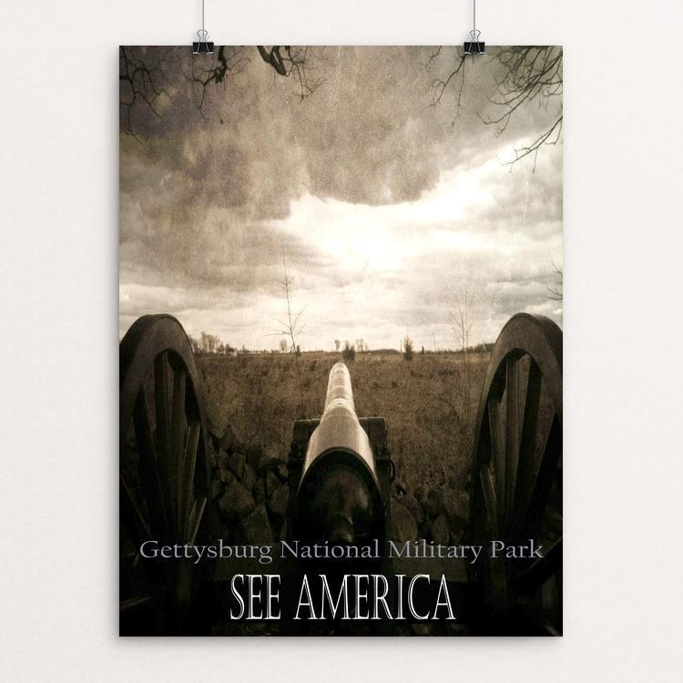 "Gettysburg Canon, Gettysburg National Military Park by Bryan Bromstrup 12"" by 16"" Print / Unframed Print See America"