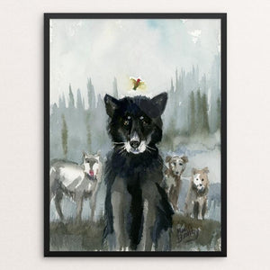 "Ghost Wolf by Mimi Boothby 12"" by 16"" Print / Framed Print Join the Pack"