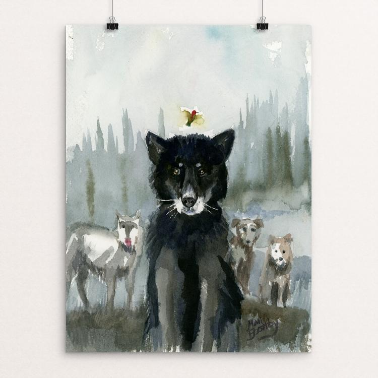 "Ghost Wolf by Mimi Boothby 12"" by 16"" Print / Unframed Print Join the Pack"