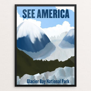 "Glacier Bay National Park and Preserve 2 by Sarah Station 12"" by 16"" Print / Framed Print See America"