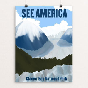 "Glacier Bay National Park and Preserve 2 by Sarah Station 12"" by 16"" Print / Unframed Print See America"