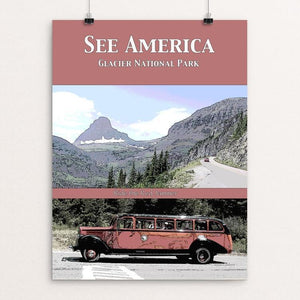 "Glacier National Park 2 by Jennie Lambert 12"" by 16"" Print / Unframed Print See America"