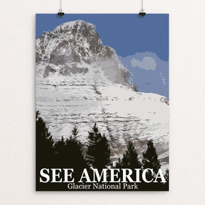 "Glacier National Park by Bill Vitiello 12"" by 16"" Print / Unframed Print See America"